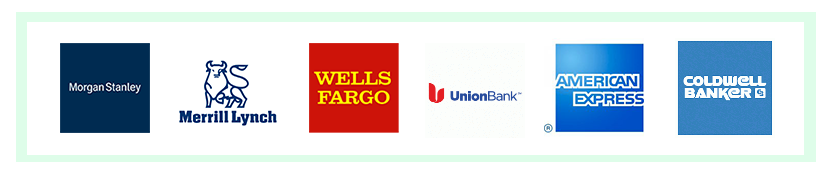 Here are the logos of just a few of the firms we work with in the financial industry